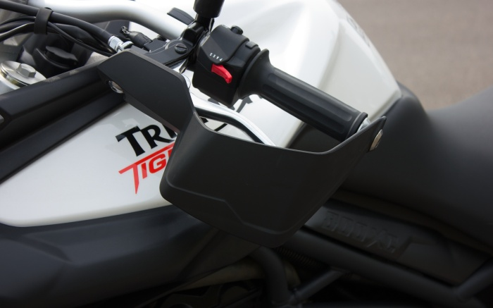 Hand guards and heated grips make winter riding eminently manageable
