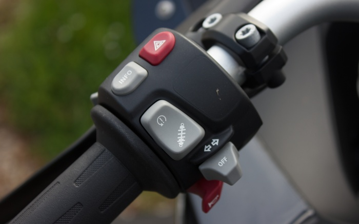Factory-fitted heated grips are unobtrusive and crucial for winter commuting
