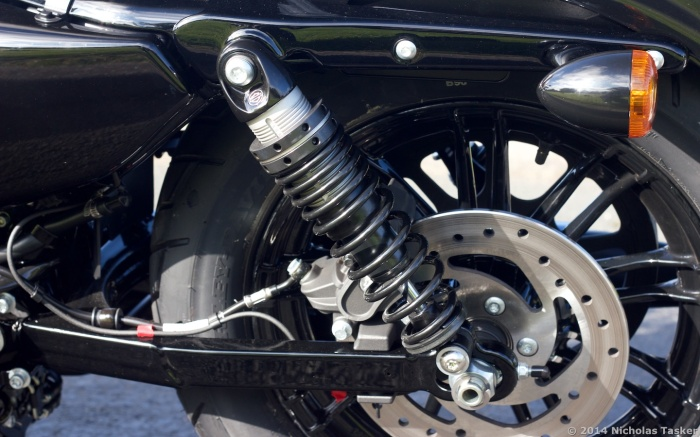 Suspension is significantly (and noticeably) improved across the entire Sportster range for 2015.