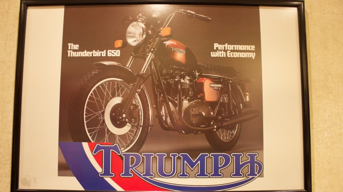 Old Triumph Advert