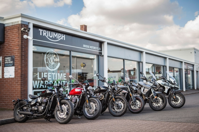 Triumph Motorcycle Showroom