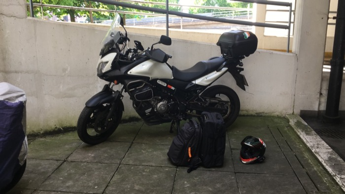 V-Strom at the Airport