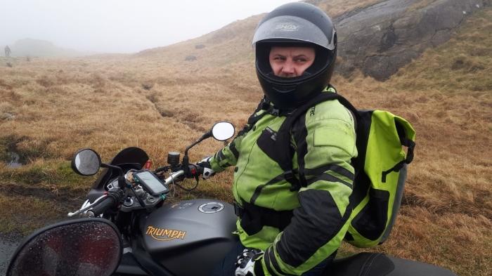 Damp Motorcyclist