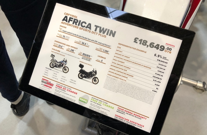 Honda Africa Twin Price Tag